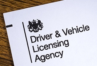 letterhead with the logo of DVLA